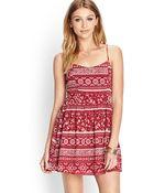 Forever 21 Folk Print Woven Dress - Lyst