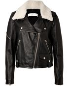 Golden Goose Deluxe Brand Leather Jacket With Shearling Collar - Lyst