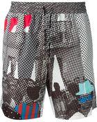 Dolce & Gabbana Digital Print Swim Shorts - Lyst