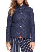 Lauren by Ralph Lauren Diamond Quilted Jacket - Lyst