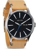 Nixon The Sentry Leather Strap Watch, 42Mm - Lyst