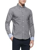 Band Of Outsiders Horizontal-Stripe Button-Down Shirt - Lyst