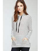 Forever 21 Striped Hooded Top - Lyst