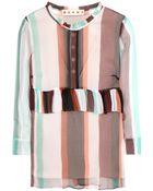 Marni Silk Chiffon Printed Blouse - Lyst