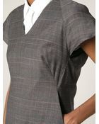 McQ by Alexander McQueen Checked Shift Dress - Lyst