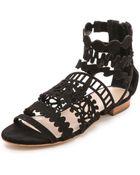 Loeffler Randall Dixie Cutout Sandals - Lyst