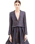 Vionnet Womens Striped Jacquard Jacket - Lyst