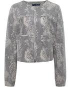 Armani Jeans Snake Print Jacket - Lyst