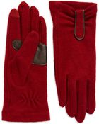 Echo Ruched Touch Technology Gloves - Lyst