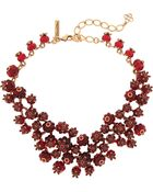 Oscar de la Renta Gold-Tone, Resin And Crystal Necklace - Lyst