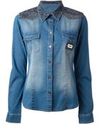 Philipp Plein Denim Shirt - Lyst
