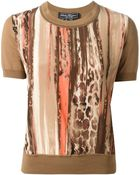 Ferragamo Abstract-Print Cotton-Blend Top - Lyst