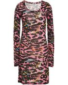 Sonia Rykiel Printed Leopard Tencel Dress - Lyst