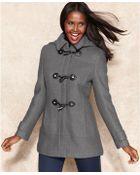 Calvin Klein Petite Toggle Wool-Blend Coat - Lyst