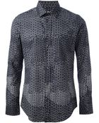 Maison Margiela Printed Cotton Shirt - Lyst