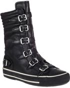 Ash Vulcano Hi-Top Sneaker Black Leather - Lyst