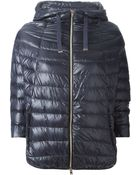 Herno Cropped Sleeve Padded Jacket - Lyst