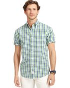 Izod Big and Tall Gingham Checked Shirt - Lyst