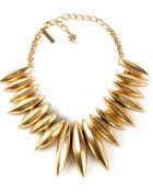 Oscar de la Renta Oval Spiked Necklace - Lyst