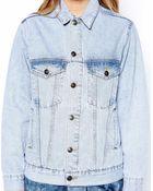 Asos Exclusive Light Wash Oversized Denim Jacket - Lyst