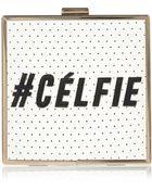 River Island White #Celfie Box Clutch Bag - Lyst