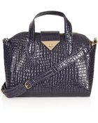 Topshop Croc Twistlock Winged Holdall Bag - Lyst