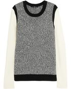 Tibi Contrastsleeve Knitted Sweater - Lyst