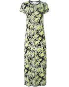 MICHAEL Michael Kors Foliage Print Maxi Dress - Lyst