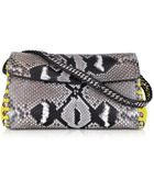 Roberto Cavalli Python Leather Evening Clutch W/Shoulder Strap - Lyst