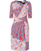 Peter Pilotto Grid Printed Stretch-Cady Dress - Lyst