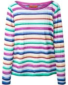 Missoni Striped Sheer Top - Lyst