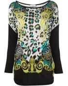 Versace Leopard Print Tshirt - Lyst