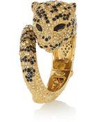 Roberto Cavalli Gold-Plated Swarovski Crystal Panther Bracelet - Lyst