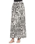 T-bags Abstract-Print Pleated Maxi Skirt - Lyst