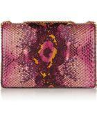 Marc Jacobs Trouble Sequin-Embellished Python Shoulder Bag - Lyst