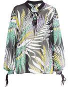 Just Cavalli Printed Silk Blouse - Lyst
