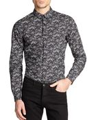 The Kooples Floral Print Cotton Shirt - Lyst