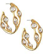 Kenneth Jay Lane Cuff Earrings W/ Rhinestones - Lyst