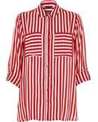River Island Red Stripe Shirt - Lyst
