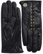 Michael Kors Studded Leather Gloves - Lyst