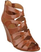 Nine West Cronin Caged Gladiator Sandals - Lyst