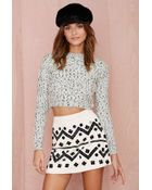 Nasty Gal Short Work Sequin Skirt - Lyst