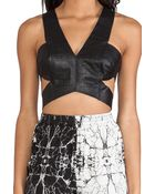 Shakuhachi Alligator Cut Out Top - Lyst
