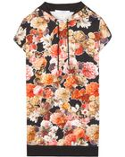 Givenchy Floral-Print Cotton Hoodie - Lyst