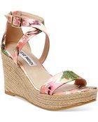 Steve Madden Women'S Montaukk Platform Wedge Sandals - Lyst