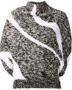 3.1 Phillip Lim Skunk Intarsia Cowl Sweater - Lyst