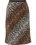 Elizabeth And James Adina Leopard-Print Silk Skirt - Lyst