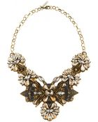 Deepa Gurnani Crystal Shielded Necklace - Lyst