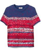 Tory Burch Mercerized Cotton Crewneck Pullover - Lyst