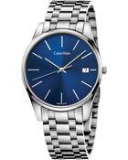 Calvin Klein Men'S Swiss Time Stainless Steel Bracelet Watch 40Mm K4N2114N - Lyst